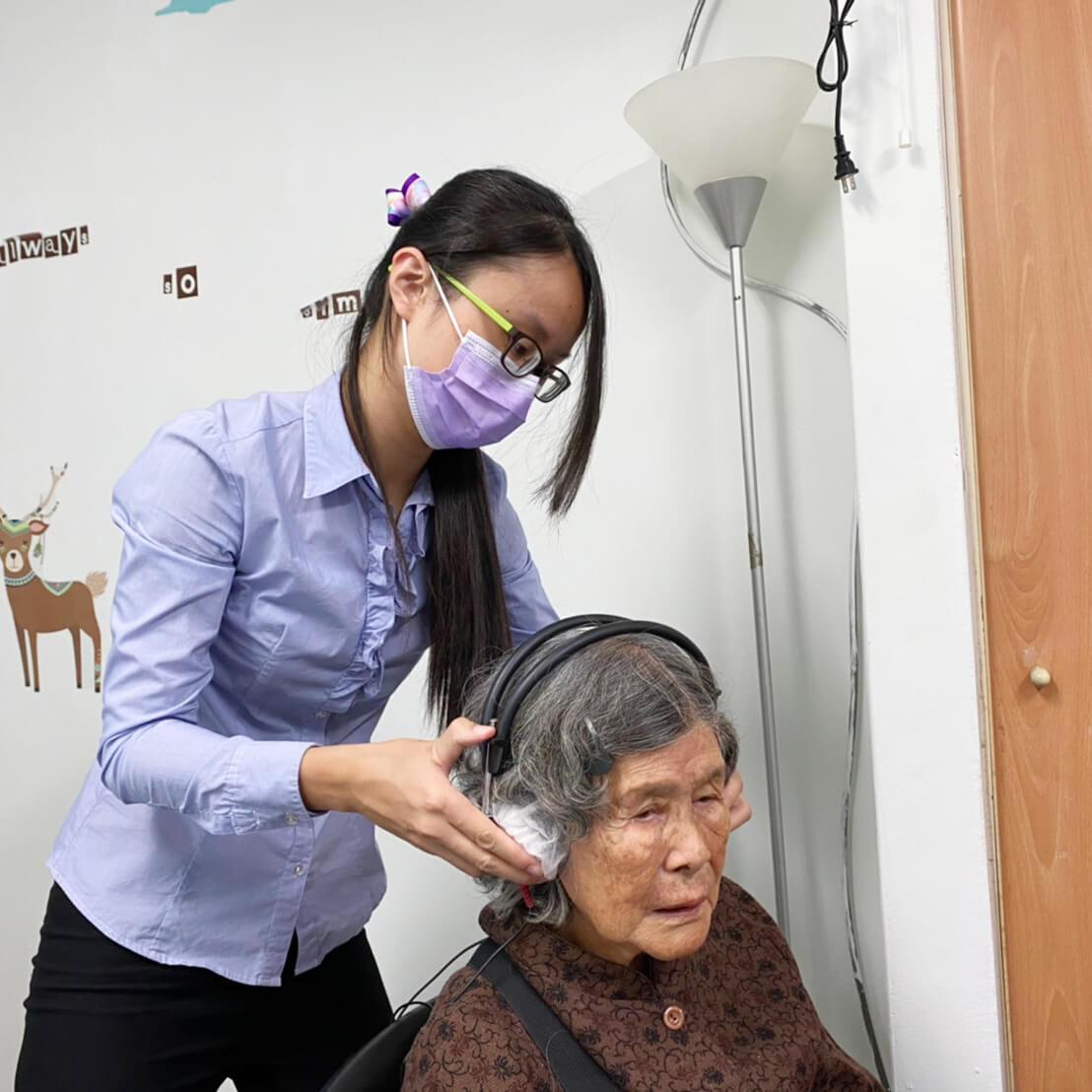 202011老五老基金會聽力篩檢活動